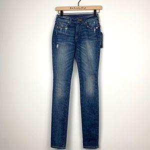 True Religion | Jennie Curvy Mid Rise Skinny Jeans